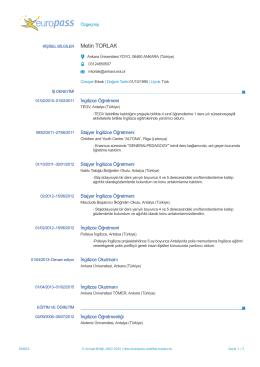 Kişisel PDF Dosyası