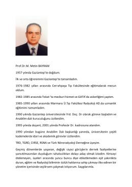Dr. Metin BAYRAM - Türk Radyoloji Derneği