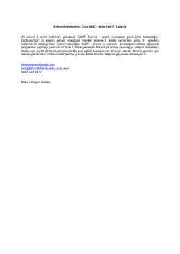 Bilkent Informatics Club (BIC) visits CeBIT Eurasia 29 kasım 2