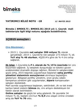 yatırımcı bilgi notu -18