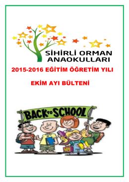 2015-2016 eğitim öğretim yılı ekim ayı bülteni
