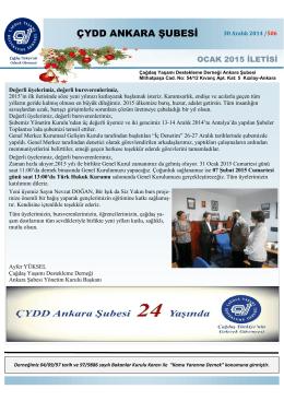 (01_OCAK 2015-\335leti.pub) - ÇYDD Ankara Şubesi