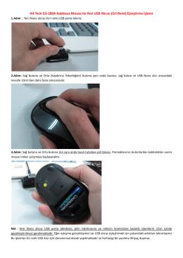 A4 Tech G3-280A Kablosuz Mouse ile Yeni USB Alıcıyı (Gri Renk