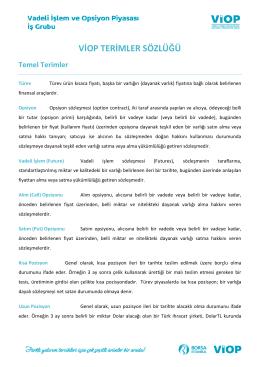 VİOP Terimler Sözlüğü