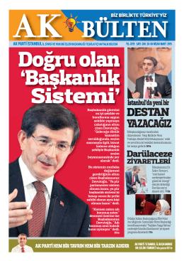 DESTAN YAZACAĞIZ - AK Parti İstanbul