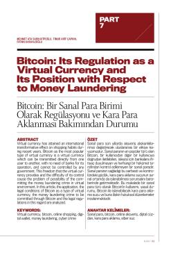 Bitcoin: Bir Sanal Para Birimi Olarak Regülasyonu ve Kara Para