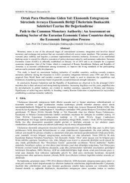 Ortak Para Otoritesine Giden Yol - International Conference on