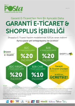 shopplus işbirliği garanti eticaret & shopplus işbirliği