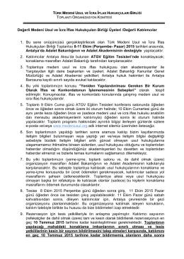 Bilgilendirme Formu - Türk Medeni Usul ve İcra İflas Hukukçuları