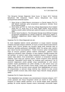 linkten - Türk Nöroşirürji Derneği