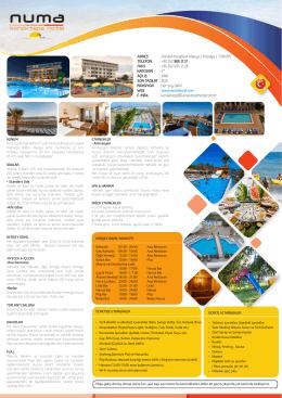 konaktepe hotel - fact sheet