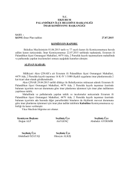 2015 Temmuz Ayı Meclis Komisyon Kararları