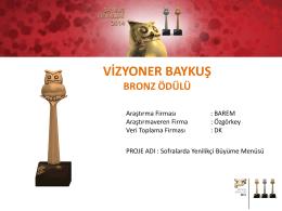 vizyoner baykuş bronz ödülü
