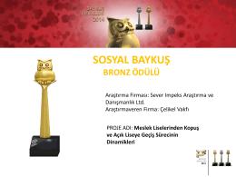 sosyal baykuş bronz ödülü