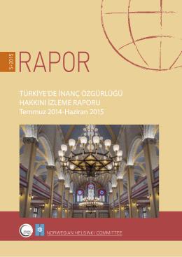 Türkiye`de İnanç Özgürlüğü Hakkını İzleme Raporu