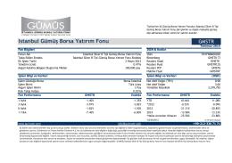 Istanbul Gümüş Borsa Yatırım Fonu GMSTR