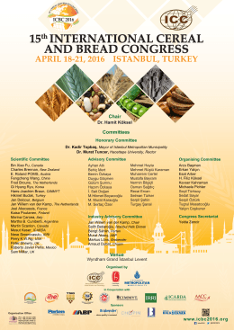 15th INTERNATIONAL CEREAL AND BREAD