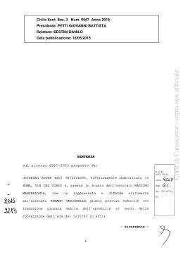 Corte di Cassazione - copia non ufficiale