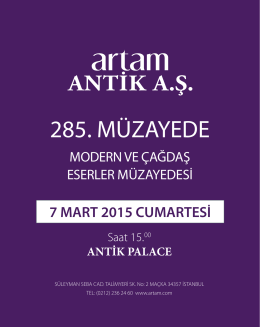 Highlights PDF - Artam Antik AŞ
