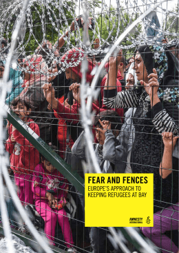 FEAR AND FENCES - Amnesty International