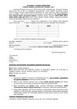 Örnek başvuru dilekçesi formu için linki tıklayınız.