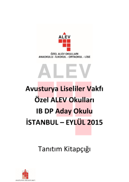 ALEV IBDP Candidate School Brochure