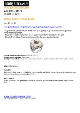 Tuğralı Gümüş Yüzük Erkek www.gumusdukkani