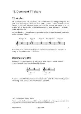 Armoni Notları 13: Dominant 7`li Akoru