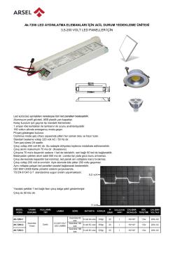 Ak-7200 LED AYDINLATMA ELEMANLARI İÇİN ACİL DURUM