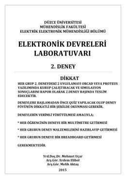Lab Deney-2 Föy - Düzce Üniversitesi Elektrik