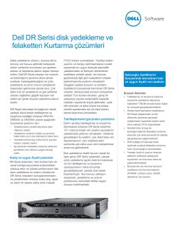 Dell DR Serisi disk yedekleme ve felaketten - E