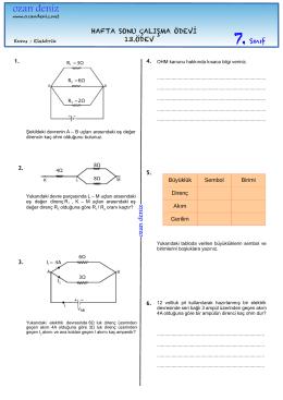 7. sınıf 13. Haftasonu Çalışma Ödevi