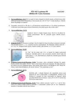 FİZ-102 Uygulama-III (Bölüm