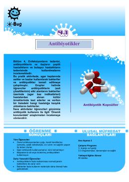 Antibiyotikler - e-Bug