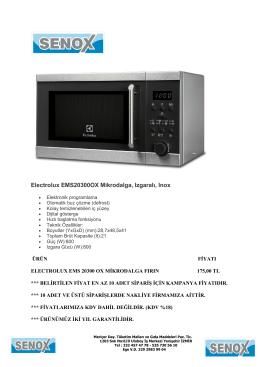 Electrolux EMS20300OX Mikrodalga, Izgaralı, Inox
