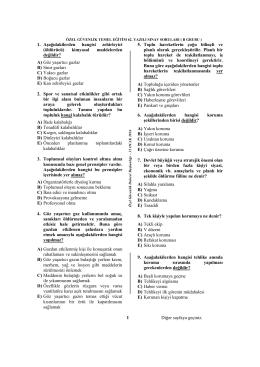 3) Aşağıdakilerden - Özel Güvenlik Kurumları Şube Müdürlüğü