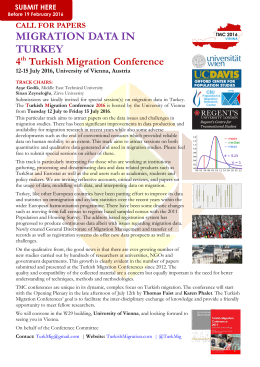 Special Sessions CfP: Geography Migration