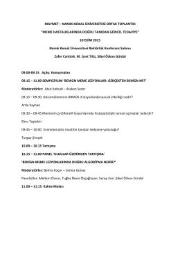 maymet – namık kemal üniversitesi ortak toplantısı