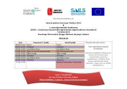 stem & makers fest/expo Türkiye 2015 & 1. stem öğretmenler