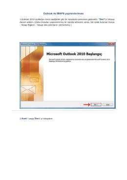 Outlook ile IMAPS yapılandırılması