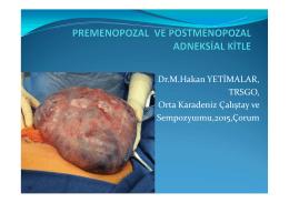 Dr. M. Hakan Yetimalar - Jinekolojik Onkoloji Derneği