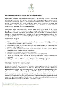 Bilgi Notu - Gaziantep Ticaret Borsası