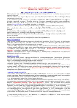 son başvuru tarihi: 21/08/2015 erciyes üniversitesi rektörl