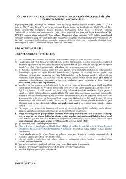 ölçme seçme ve yerleştirme merkezi başkanlığı sözleşmeli bilişim