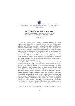 İslam`da Entelektüel Gelenekler - Sakarya Üniversitesi İlahiyat