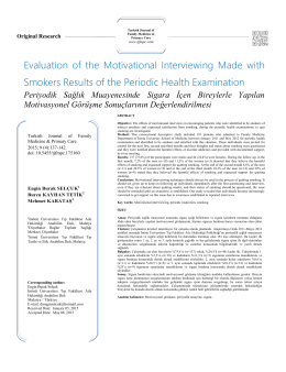 Evaluation of the Motivational Interviewing Made with Smokers