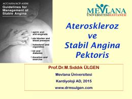 Ateroskleroz ve iKH ders 2015