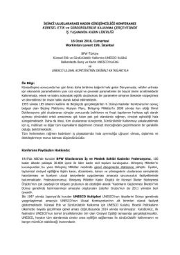 BPW Türkiye Uluslararası Konferans