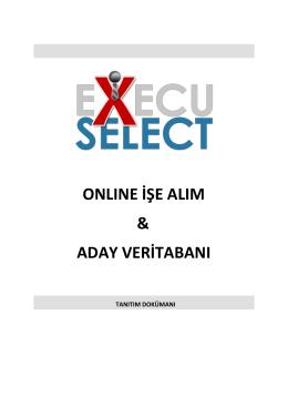 ExecuSelect Online İşe Alım ve Aday Veritabanı Sistemi
