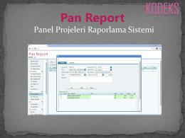 Pan Report - Kodeks Yazılım